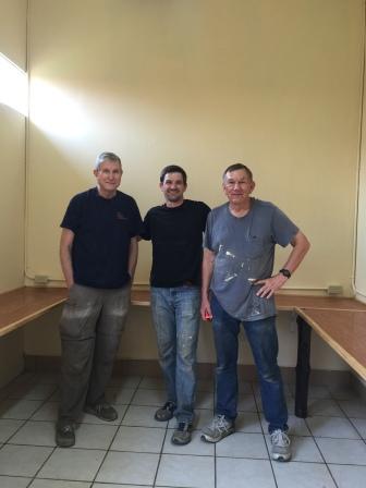 John, Alan and Keith