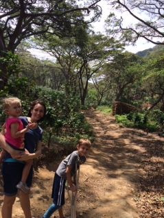 Hiking at Los Nubes coffee plantation