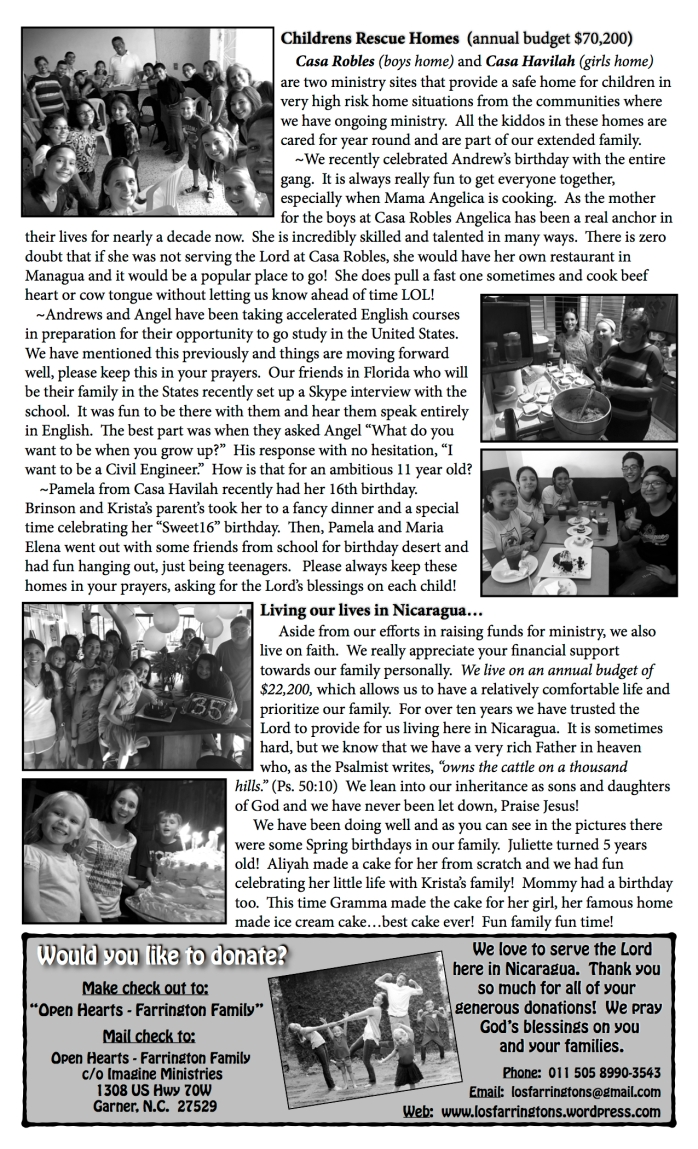 Jpeg P2 - FARRINGTON NEWSLETTER - SUMMER '17 copy