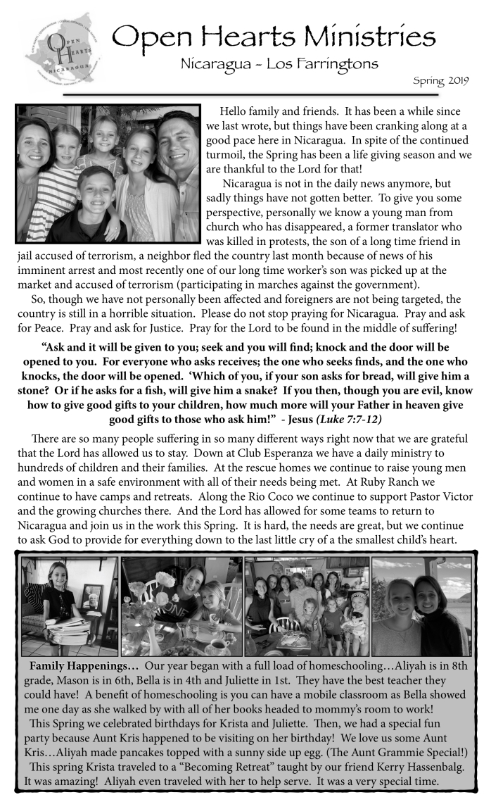 19-04 Newsletter BW p1